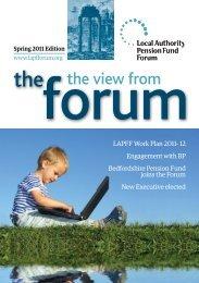 Spring Newsletter 2011 - LAPFF