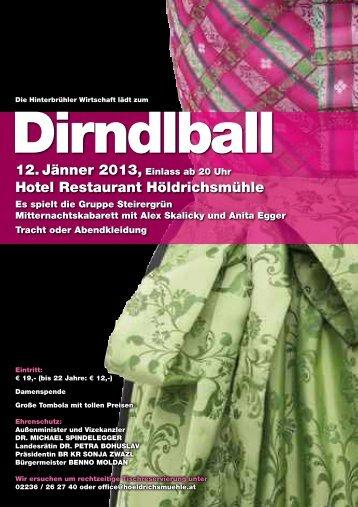 12. Jänner 2013, Einlass ab 20 uhr hotel restaurant höldrichsmühle