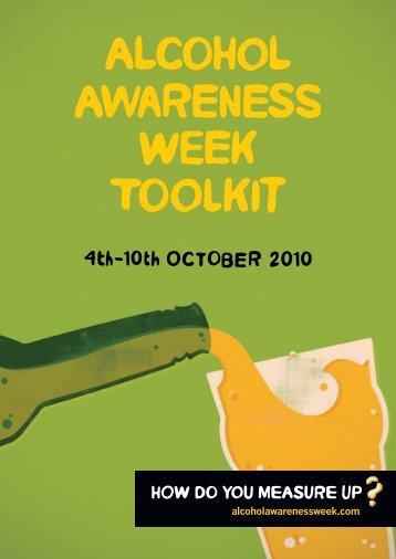 Alcohol Awareness Week 2010! - Drinksinitiatives.eu