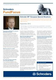 Schroders FundFocus - Funds People
