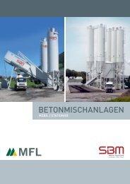 Gesamtprogramm: Mobile und stationäre Betonmischanlagen - SBM