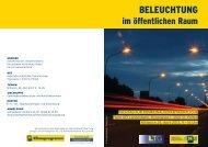 Beleuchtung im öffentlichen Raum - Umwelt-Gemeinde-Service