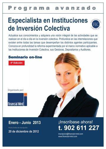Especialista en Instituciones de Inversión Colectiva - Funds People
