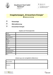 "Imagekampagne ""Erneuerbare Energie"" - ÖVP Bad Ischl"