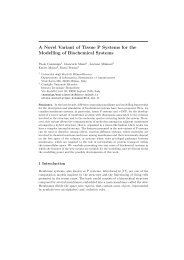 A Novel Variant of Tissue P Systems for the Modelling of ...