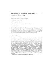 An Application of Genetic Algorithms to Membrane Computing