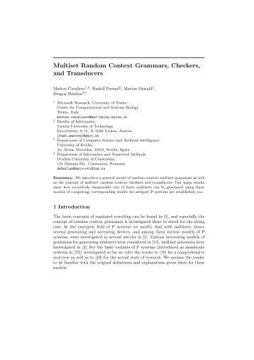 Multiset Random Context Grammars, Checkers, and Transducers
