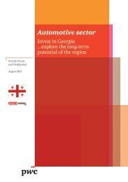 Automotive sector - Invest in Georgia