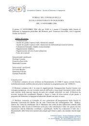 Verbale del 13 novembre 2006 (pdf) - Scuola di Dottorato in ...