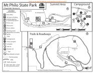 Mt. Philo State Park Interactive Campground Map & Guide