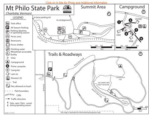 devils lake campground map Mt Philo State Park Interactive Campground Map Guide devils lake campground map