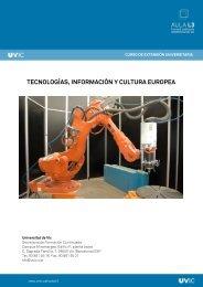 tecnologías, información y cultura europea - Universitat de Vic