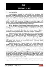 bab 1 pendahuluan - Pusat Informasi Perencanaan Pembangunan ...