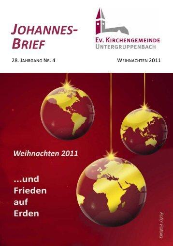 Weihnachten 2011 - Evangelische Kirchengemeinde ...