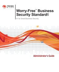 Trend Micro Worry-Free Business Security Administrator's Guide