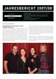 JAHRESBERICHT 2007/08 - Junges Theater Liechtenstein