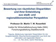 Bewertung von räumlichen Disparitäten und ihrer Entwicklung ... - ARL