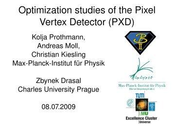 Optimization studies of the Pixel Vertex Detector (PXD) - Belle II