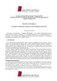 Accesso a Internet: verso un nuovo diritto sociale? - Gruppo di Pisa