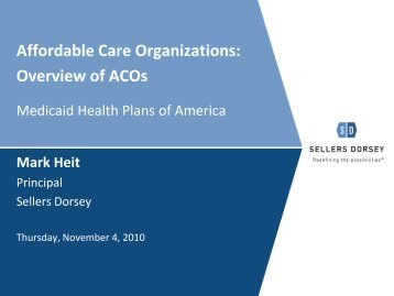 ACOs - Medicaid Health Plans of America