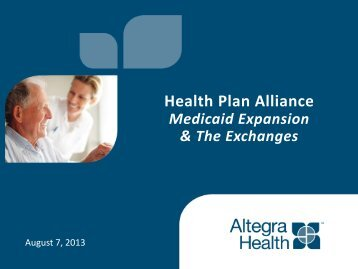 Health Plan Alliance - Medicaid Health Plans of America