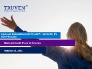 Coverage Expansion under the ACA: Caring for the Newly Insured ...