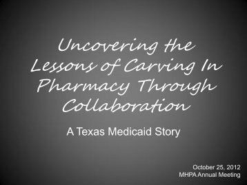 Uncovering the Lessons of Carving In Pharmacy Through ...