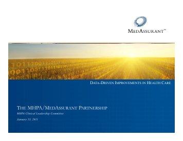 the mhpa/medassurant partnership - Medicaid Health Plans of ...