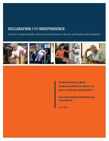 Declaration for inDepenDence