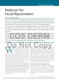 Radiesse™ for Facial Rejuvenation