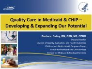Quality Care in Medicaid & CHIP – Developing & Expanding Our ...