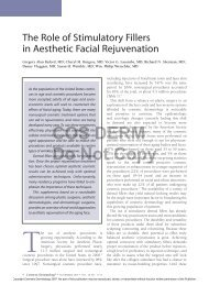 The Role of Stimulatory Fillers in Aesthetic Facial Rejuvenation