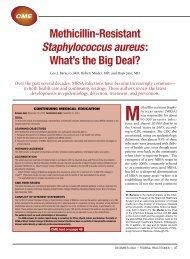 Methicillin-Resistant Staphylococcus aureus: What's the Big ... - Cutis