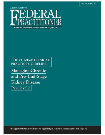 Managing Chronic and Pre–End-Stage Kidney Disease Managing ...