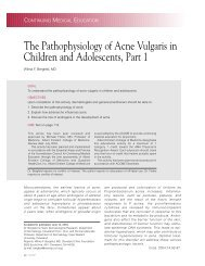 The Pathophysiology of Acne Vulgaris in Children and ... - Cutis