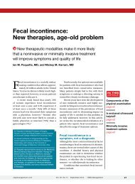 Fecal incontinence: New therapies, age-old problem - Cutis
