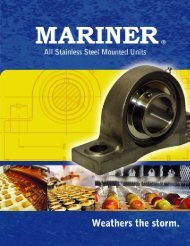 Mariner Stainless Steel Pillow Blocks Brochure (PDF)