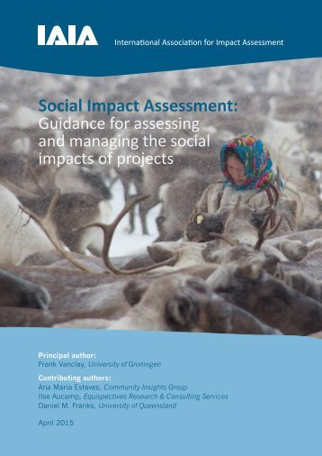 IAIA 2015 Social Impact Assessment guidance document