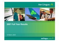 2007 Full Year Results - Aer Lingus