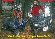 | VERGLEICH | YAMAHA GRIZZLY 700 FI / JETPOWER - Actionbikes