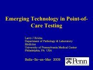 Emerging Technology In Point-of- Care Testing
