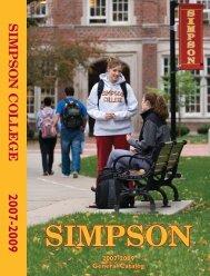 2007-2009 Simpson General Catalog - Simpson College