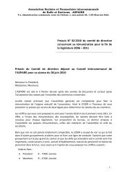 Préavis N° 02-2010 du comité de direction concernant sa ... - aspaire