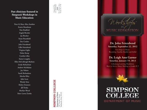 Workshops Workshops - Simpson College