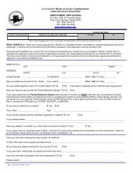 Downloadable Job Application - Clay County!