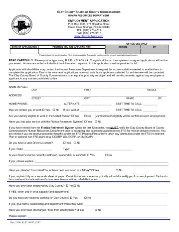 directions for filling out the automated job application form