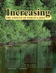 the amount of fish in lakes - Little St. Germain Lake District Home Page