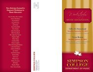 MUSIC EDUCATION MUSIC EDUCATION - Simpson College