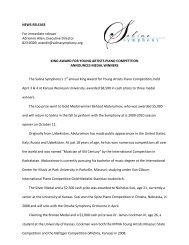King Award Winners Announced - Salina Symphony