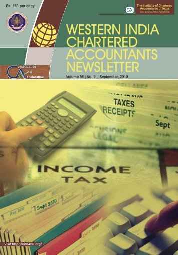 WESTERN INDIA CHARTERED ACCOUNTANTS NEWSLETTER